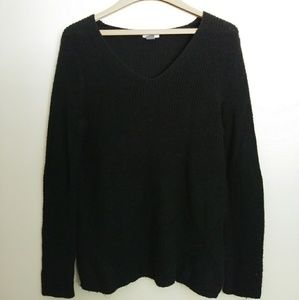 Old Navy | Black Twist Knit Sweater